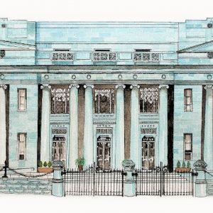 Earlsfort Terrace original Watercolour. Sold. Giclée prints available.