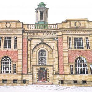 Rathmines Library.      75cm X 60cm  Giclée print available