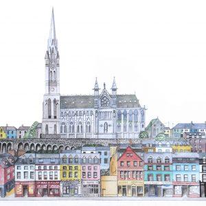 Cobh Cathedral.Giclée print,framed. 60cm X 49cm. € 150. 77cm X 60 €200